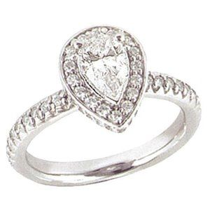 2.01 carats PLATINUM DIAMOND RING engagement pear